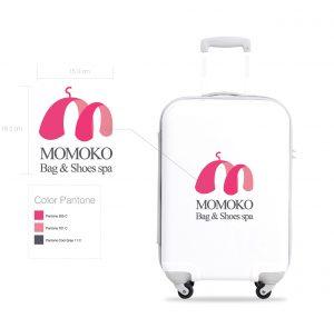 กระเป๋าเดินทางสกรีนโลโก้โมโมโกะ